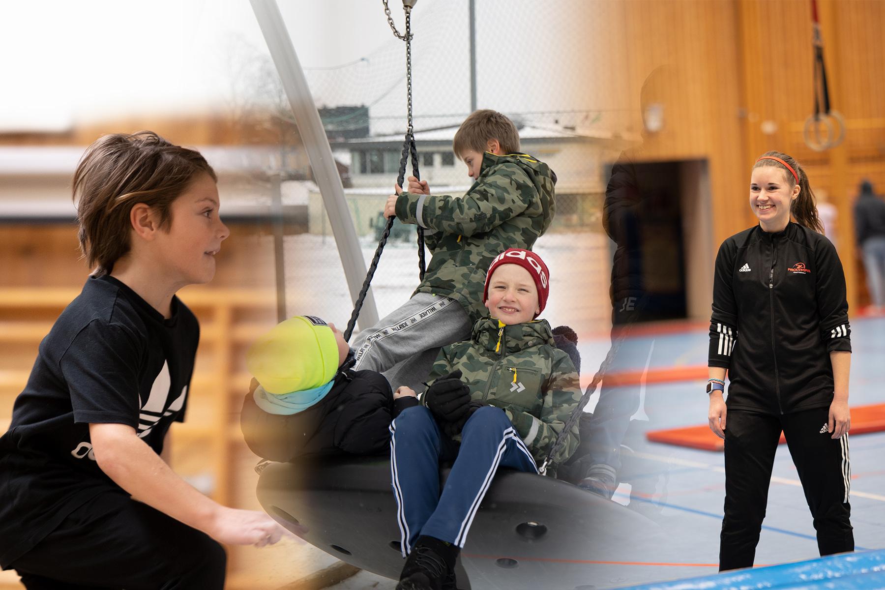 Fotokollage av elever på Prolympia