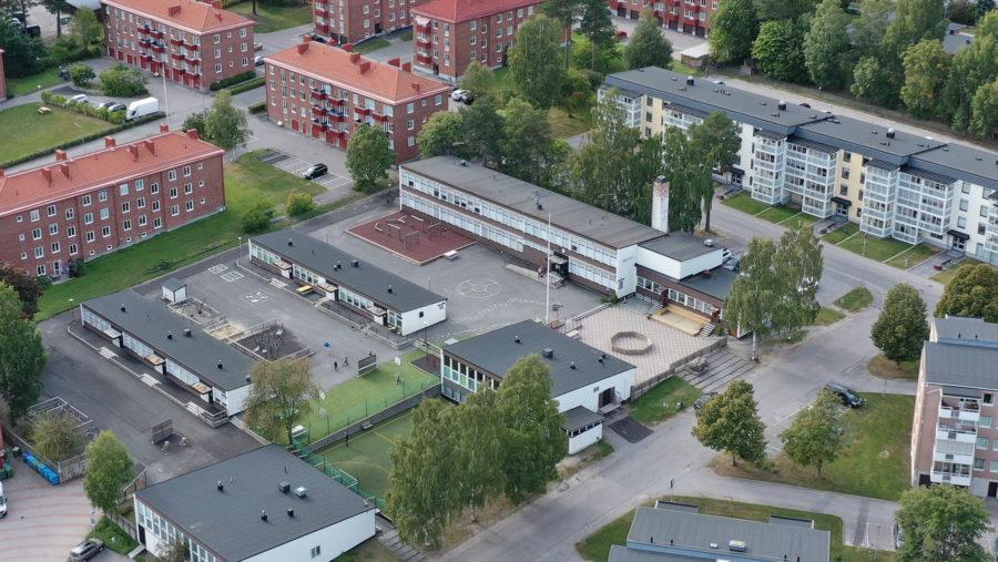Flygfoto över Prolympia Sundsvall