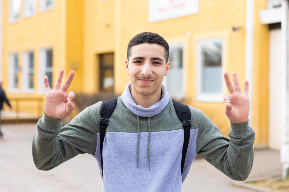 Porträttbild på Ibrahim Haddar
